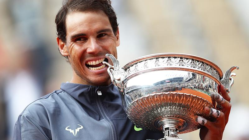 Rafael Nadal, pictured here after he won yet another French Open crown in 2019.