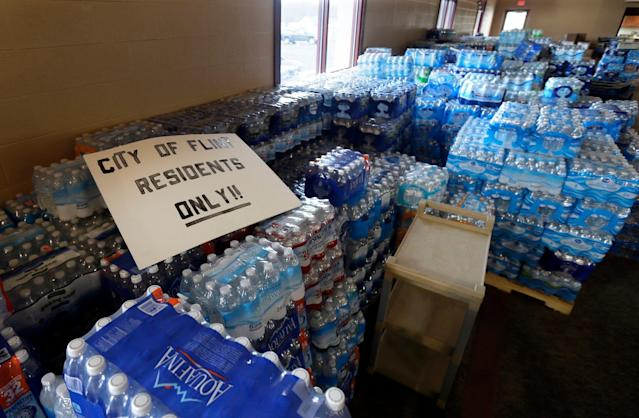 Bottled water became a critical way of life for Flint residents since 2016. (AP)
