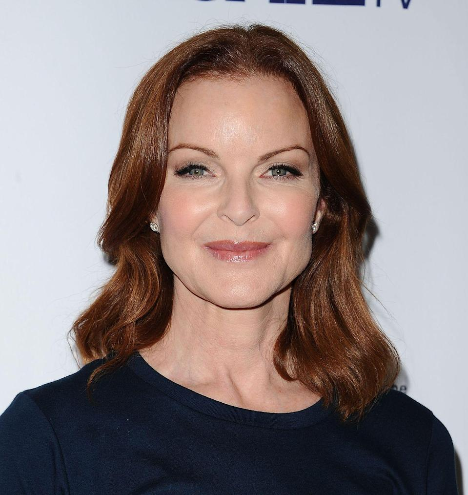 "<p>She was recently seen on the ABC drama <em>Quantico</em> as President Claire Haas. Cross also fought a battle with anal cancer, and is <a href=""https://www.cnn.com/2019/06/06/entertainment/marcia-cross-husband-cancer-trnd/index.html"" rel=""nofollow noopener"" target=""_blank"" data-ylk=""slk:now in remission"" class=""link rapid-noclick-resp"">now in remission</a>. </p>"
