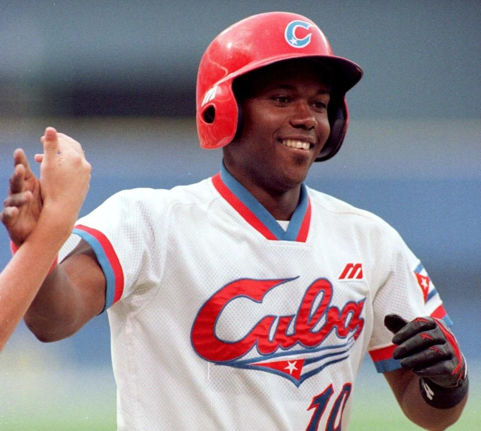 Cuba's Omar Linares was a star for a Cuban National Team that won gold at the Atlanta Olympics.