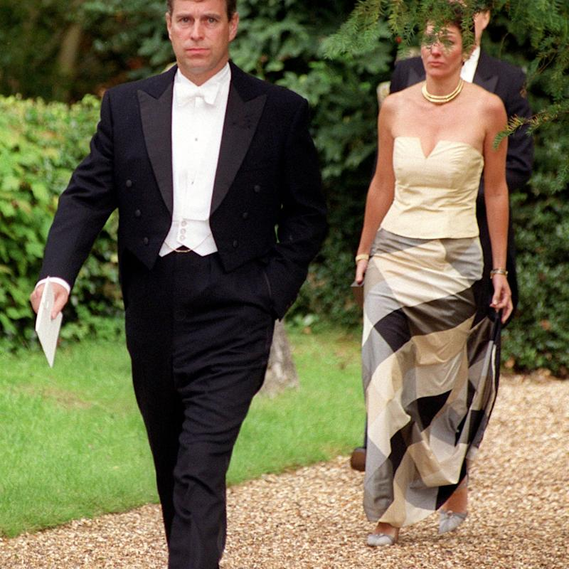 Prince Andrew and Ghislaine Maxwell - Stewart Mark / Camera Press