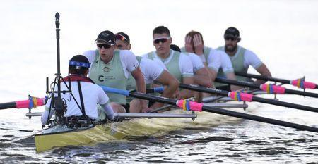 Britain Rowing - 2017 Oxford v Cambridge University Boat Race - River Thames, London - 2/4/17 Cambridge crew looks dejected after the Men's Boat Race Reuters / Toby Melville Livepic