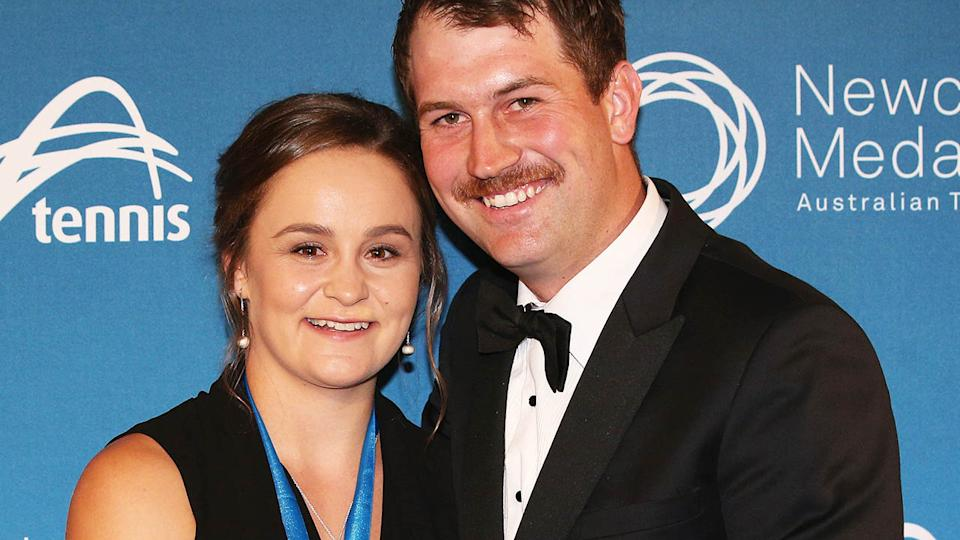 Ashleigh Barty with Garry Kissick at the 2017 Newcombe Medal.  (Photo by Michael Dodge/Getty Images)