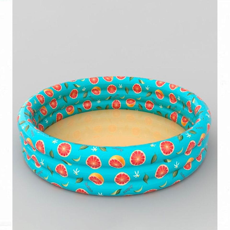 """This backordered option is expected to ship by late July, but the cute fruit print is worth the wait. $30, Urban Outfitters. <a href=""""https://www.urbanoutfitters.com/shop/fruits-mini-inflatable-pool"""" rel=""""nofollow noopener"""" target=""""_blank"""" data-ylk=""""slk:Get it now!"""" class=""""link rapid-noclick-resp"""">Get it now!</a>"""