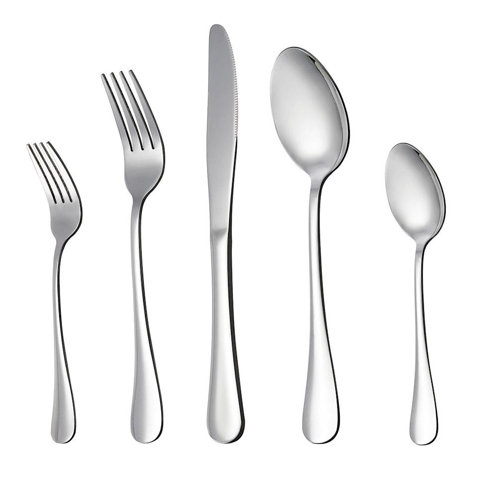 """<p>Make sure you have some silverware in your home. We love this <a href=""""https://www.popsugar.com/buy/Lianyu-20-Piece-Silverware-Flatware-Cutlery-Set-477068?p_name=Lianyu%2020-Piece%20Silverware%20Flatware%20Cutlery%20Set&retailer=amazon.com&pid=477068&price=18&evar1=casa%3Aus&evar9=46472458&evar98=https%3A%2F%2Fwww.popsugar.com%2Fphoto-gallery%2F46472458%2Fimage%2F46472461%2FLianyu-20-Piece-Silverware-Flatware-Cutlery-Set&list1=shopping%2Ckitchens%2Crooms%2Ckitchen%20accessories&prop13=api&pdata=1"""" rel=""""nofollow"""" data-shoppable-link=""""1"""" target=""""_blank"""" class=""""ga-track"""" data-ga-category=""""Related"""" data-ga-label=""""https://www.amazon.com/LIANYU-20-Piece-Silverware-Stainless-Dishwasher/dp/B06XK6PXX8/ref=sr_1_3?crid=LAGF38ZHJPYN&amp;keywords=silverware+set&amp;qid=1565213119&amp;s=gateway&amp;sprefix=silver%2Caps%2C220&amp;sr=8-3"""" data-ga-action=""""In-Line Links"""">Lianyu 20-Piece Silverware Flatware Cutlery Set</a> ($18, originally $20) because it's comprehensive and affordable.</p>"""