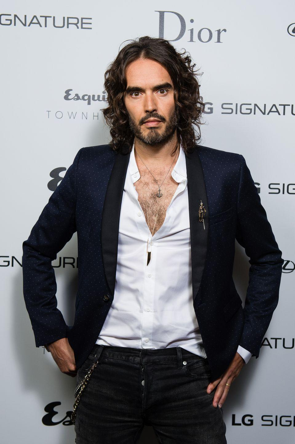 <p>Russell Brand is nothing if not proud of his hairy chest. In fact, the comedian is seldom seen in public without showing it off.</p>