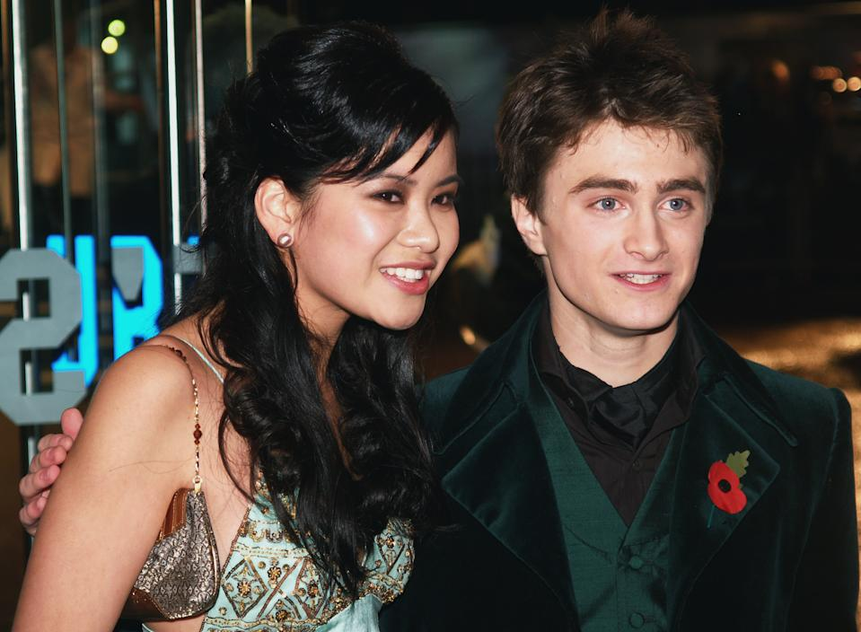 British actor Daniel Radcliffe and actress Katie Leung, arrive in London's Leicester Square for the premier of their latest Harry Potter film, 'Harry Potter and the Goblet of Fire', Sunday Nov. 6, 2005. The film is to be released on Nov. 18, 2005 and is the fourth in the series of Harry Potter films based on the books by author J. K. Rowling.(AP Photo/ Max Nash)