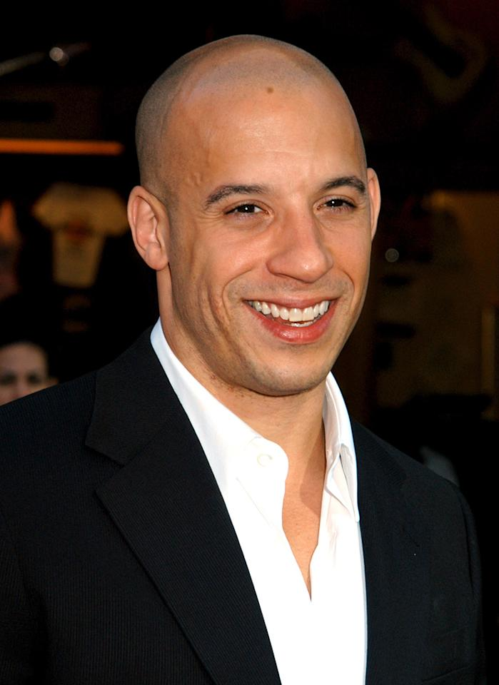 """<a href=""""http://movies.yahoo.com/movie/contributor/1800020716"""">Vin Diesel</a> at the Universal City premiere of <a href=""""http://movies.yahoo.com/movie/1808405423/info"""">The Chronicles of Riddick</a> - 06/03/2004"""