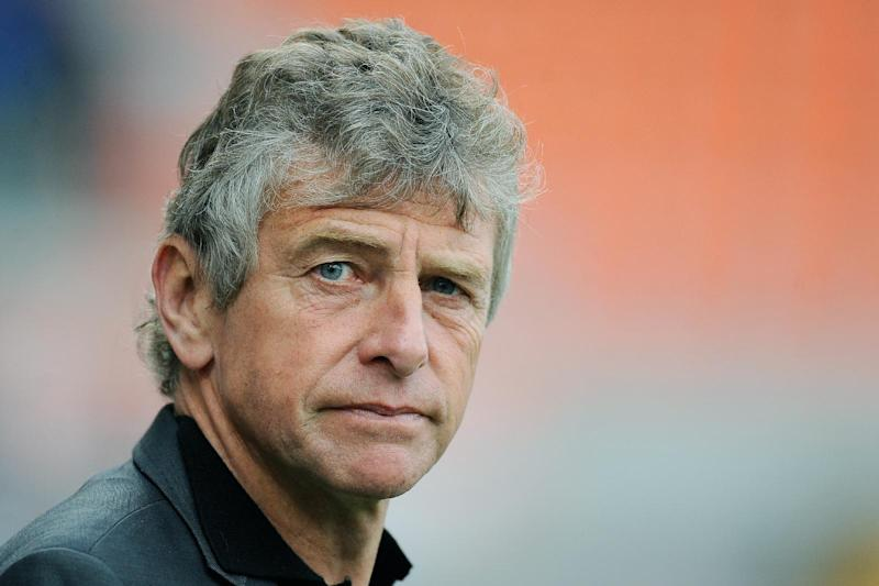 Christian Gourcuff looks on before the start of a French league match between Lorient and Montpellier at the Moustoir stadium in western France, on April 20, 2014
