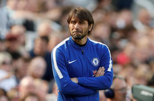 "Soccer Football - Premier League - Newcastle United vs Chelsea - St James' Park, Newcastle, Britain - May 13, 2018 Chelsea manager Antonio Conte looks on Action Images via Reuters/Lee Smith EDITORIAL USE ONLY. No use with unauthorized audio, video, data, fixture lists, club/league logos or ""live"" services. Online in-match use limited to 75 images, no video emulation. No use in betting, games or single club/league/player publications. Please contact your account representative for further details. TPX IMAGES OF THE DAY"