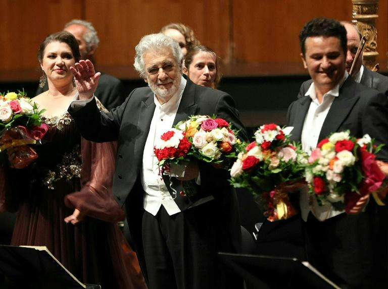 Placido Domingo received a standing ovation at the Salzburg festival despite accusations of sexual harassment that emerged earlier this month