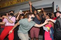 <p>On Sept. 14, some of Broadway's favorites re-opened, including <em>Hamilton, The Lion King</em> and <em>Wicked. </em>In honor of Broadway's big night, the casts of all three shows gathered together ahead of opening. </p>