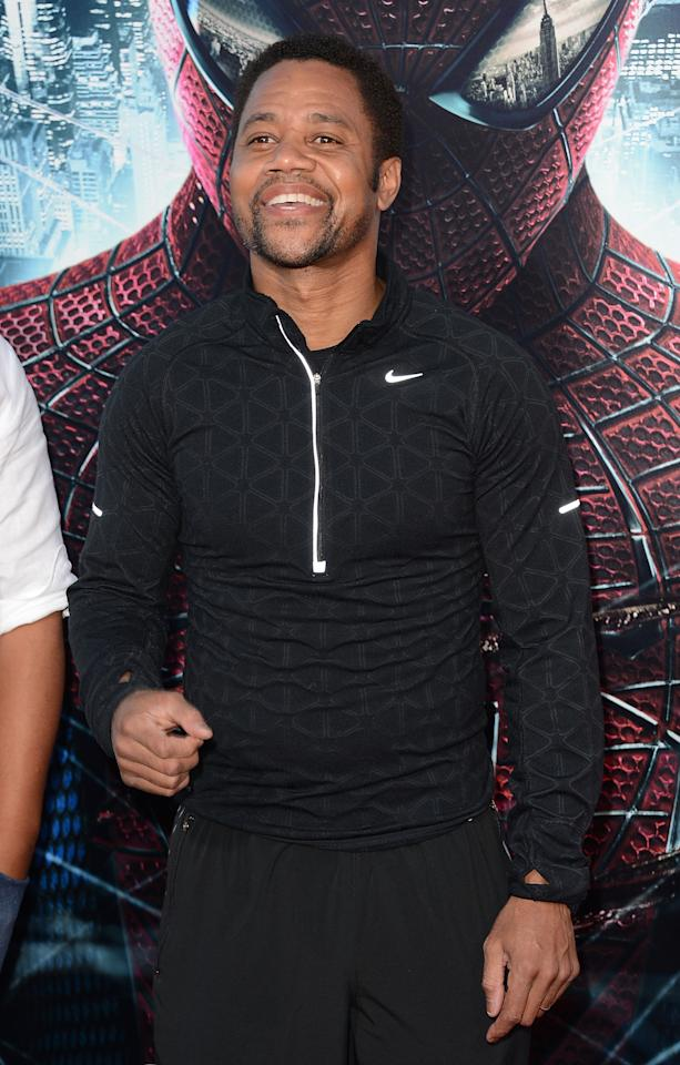 WESTWOOD, CA - JUNE 28:  Actor Cuba Gooding Jr arrives at the premiere of Columbia Pictures' 'The Amazing Spider-Man' at the Regency Village Theatre on June 28, 2012 in Westwood, California.  (Photo by Jason Merritt/Getty Images)
