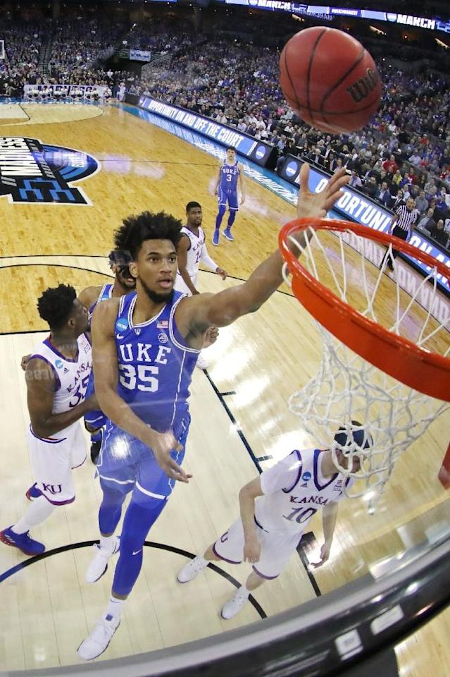 Duke University's Marvin Bagley is expected to be one of the top three NBA picks (AFP Photo/STREETER LECKA)