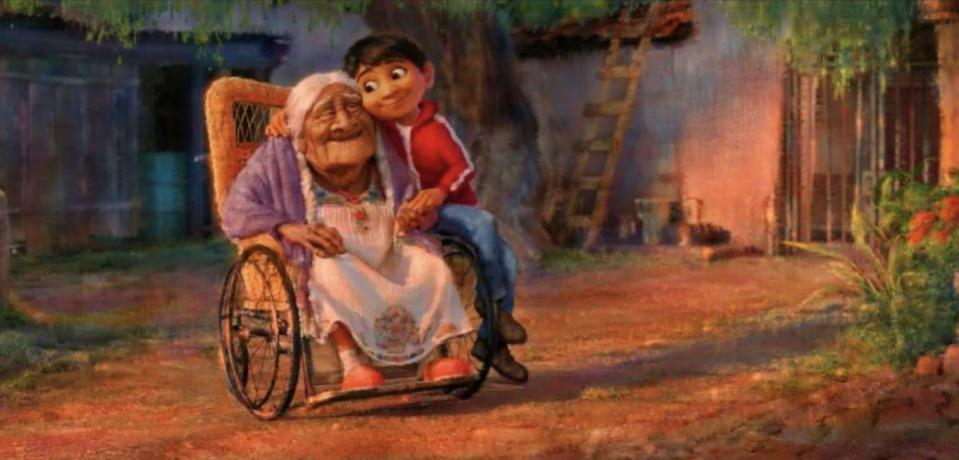 Coco and Miguel in concept art for <i>Coco</i>. (Image: Disney-Pixar)