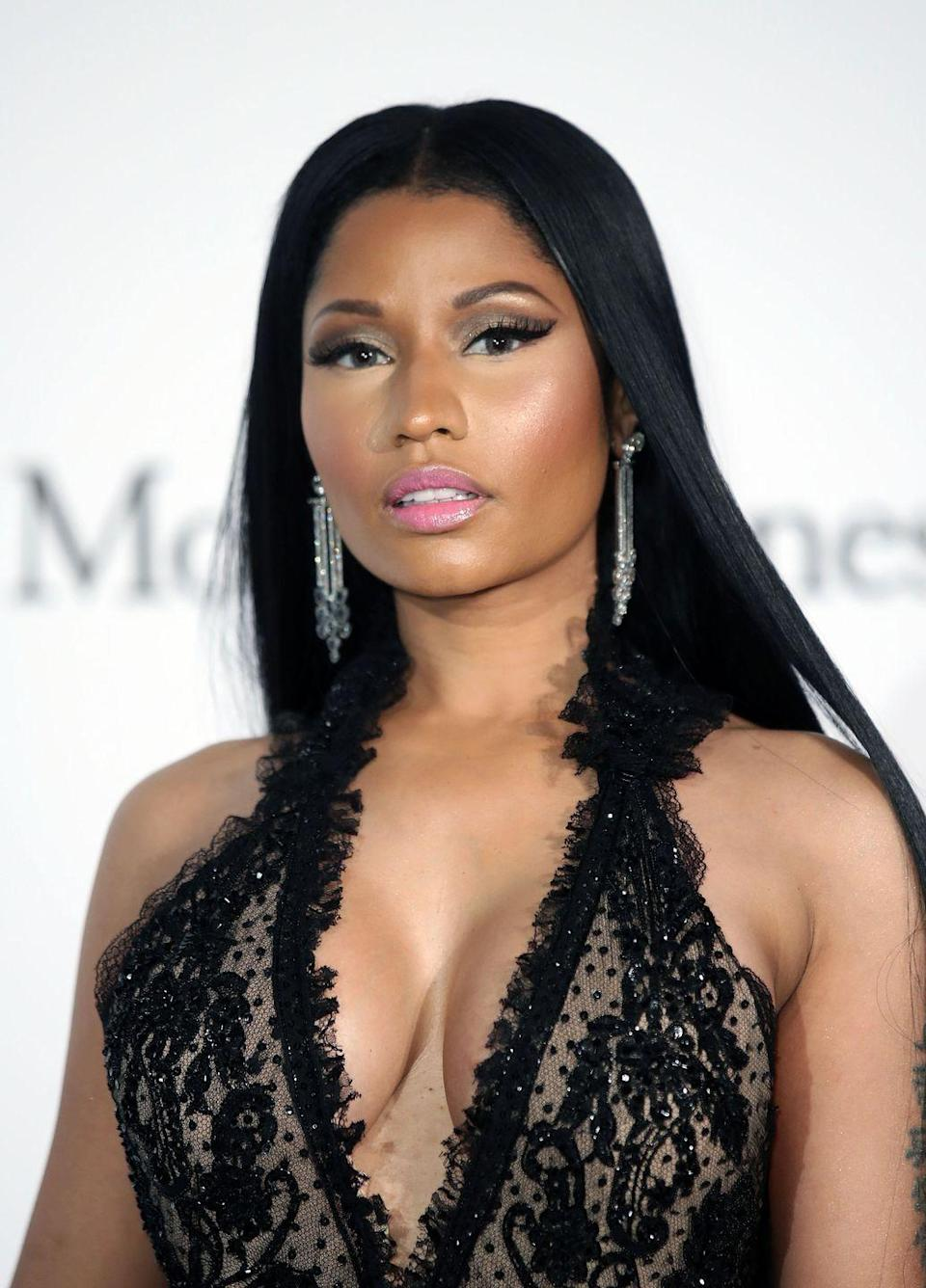 """<p><strong>Real name: </strong>Onika Tanya Maraj</p><p>""""One of the first production deals I signed, the guy wanted my name to be Minaj and I fought him tooth and nail. But he convinced me. I've always hated it,"""" she told <a href=""""https://www.theguardian.com/music/2012/apr/27/nicki-minaj-bigger-balls-than-the-boys"""" rel=""""nofollow noopener"""" target=""""_blank"""" data-ylk=""""slk:The Guardian"""" class=""""link rapid-noclick-resp"""">The Guardian</a>.</p>"""