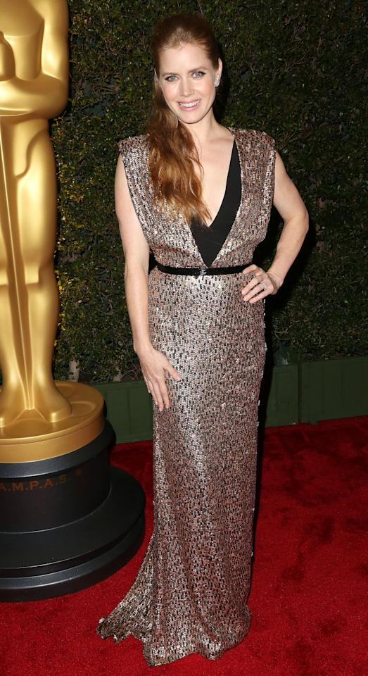 HOLLYWOOD, CA - DECEMBER 01:  Actress Amy Adams attends the Academy Of Motion Picture Arts And Sciences' 4th Annual Governors Awards at Hollywood and Highland on December 1, 2012 in Hollywood, California.  (Photo by Frederick M. Brown/Getty Images)