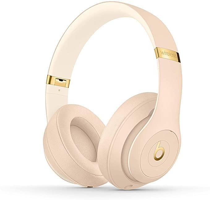 """<h2>Beats Studio3 Wireless Noise-Canceling Headphones </h2><br>These top-rated, sand-toned headphones are designed for ultimate travel comfort with wireless and noise-canceling capabilities. <br><br><em>Shop</em> <strong><em><a href=""""https://amzn.to/3bu7EOS"""" rel=""""nofollow noopener"""" target=""""_blank"""" data-ylk=""""slk:Beats"""" class=""""link rapid-noclick-resp"""">Beats</a></em></strong><br><br><strong>Beats by Dr. Dre</strong> Studio3 Wireless Noise Cancelling Over-Ear Headphones, $, available at <a href=""""https://amzn.to/3hsCgEe"""" rel=""""nofollow noopener"""" target=""""_blank"""" data-ylk=""""slk:Amazon"""" class=""""link rapid-noclick-resp"""">Amazon</a>"""