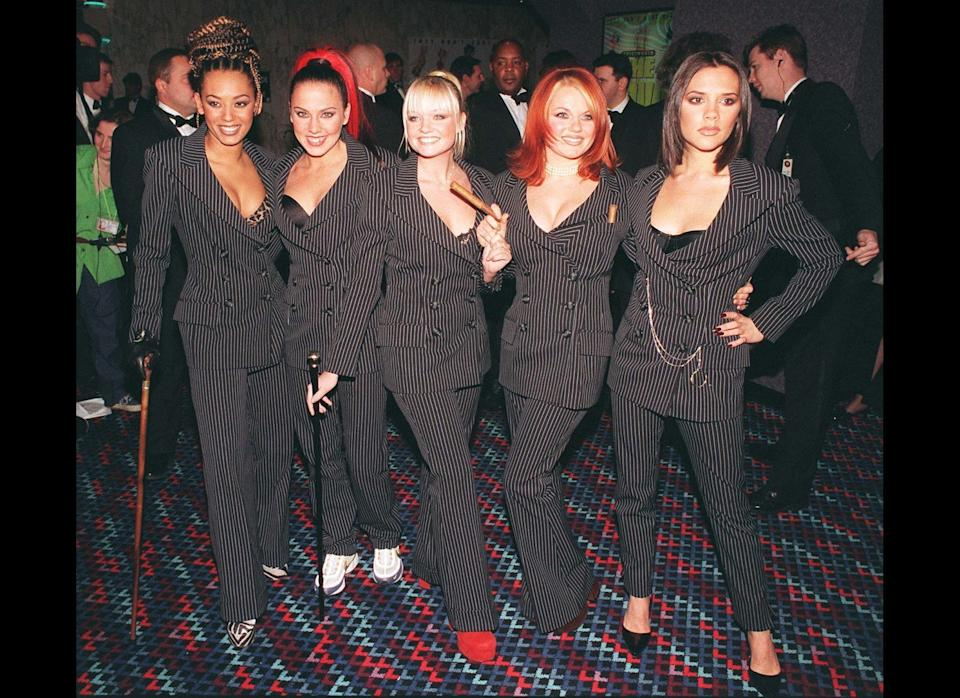 <strong>1998</strong>  Spice Girls arriving at the Empire, Leicester Square, for the gala premiere of the film Spice - The Movie