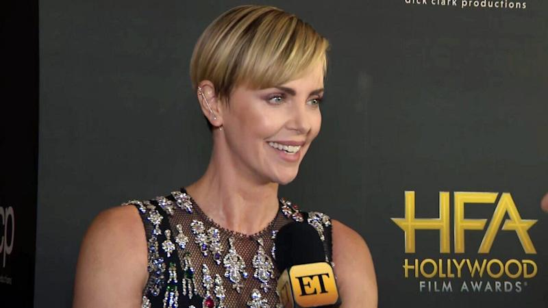 Charlize Theron gets emotional while accepting 'Career Achievement Award' from Nicole Kidman