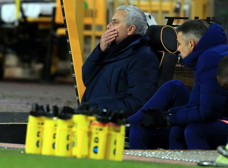 Jose Mourinho's (left) conservative approach was punished by Wolves' late equaliser