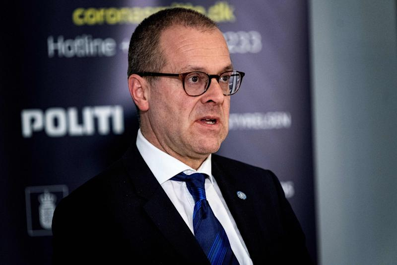 World Health Organisation (WHO) European director Hans Kluge, speaks during a joint press conference on the Danish handling of coronavirus in Eigtved's Pakhus, Copenhagen, Denmark, on March 27, 2020. (Photo by Ida Guldbaek Arentsen / Ritzau Scanpix / AFP) / Denmark OUT (Photo by IDA GULDBAEK ARENTSEN/Ritzau Scanpix/AFP via Getty Images)