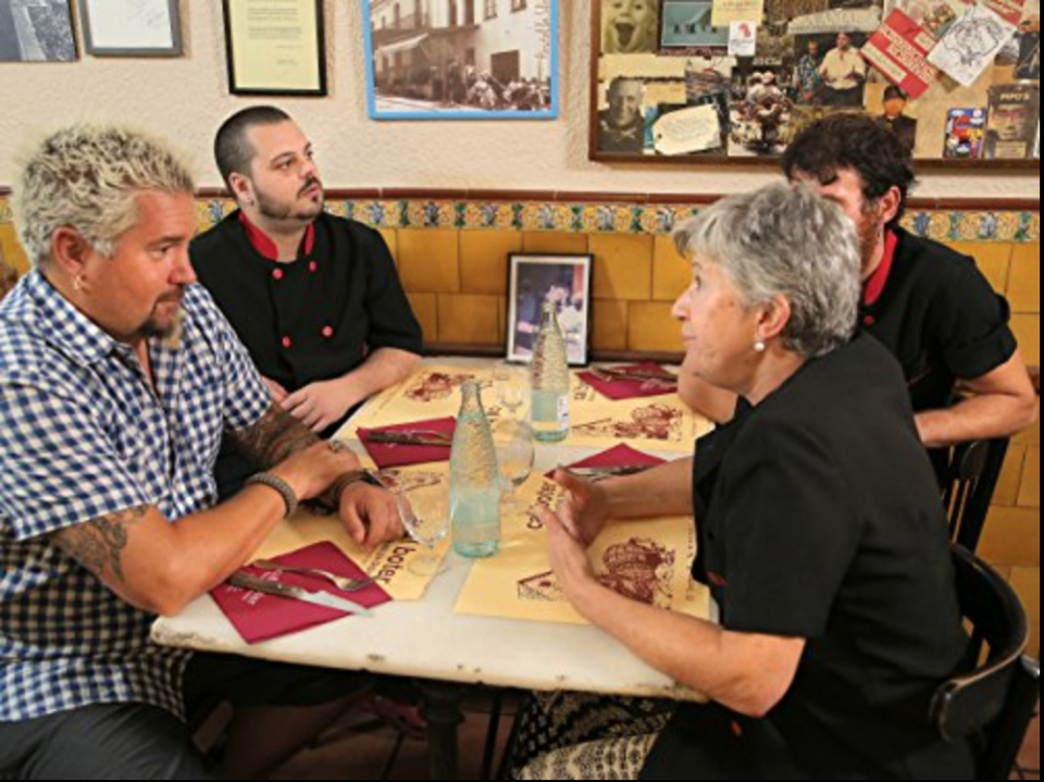 "<p>Because the story arc is sculpted before production rolls in, there's <a href=""https://www.mashed.com/34137/untold-truth-diners-drive-ins-dives/"" rel=""nofollow noopener"" target=""_blank"" data-ylk=""slk:a tight script"" class=""link rapid-noclick-resp"">a tight script</a> to follow. But Guy is known to improv and say things off-the-cuff to keep the show interesting.</p>"