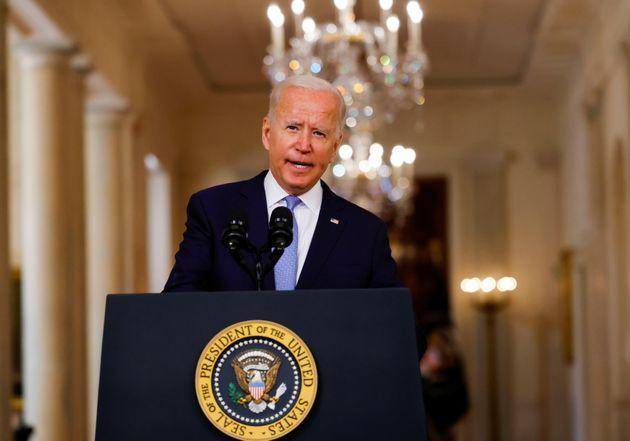 <strong>Joe Biden delivers remarks on Afghanistan during a speech at the White House.</strong> (Photo: Carlos Barria via Reuters)