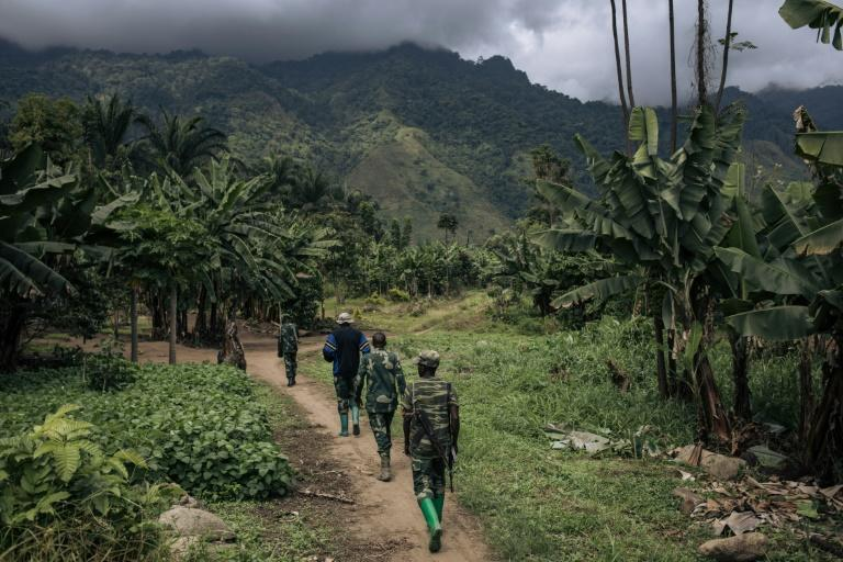 DR Congo's armed forces are struggling to stem massacres by the ADF -- an armed group linked to the so-called Islamic State (AFP/ALEXIS HUGUET)