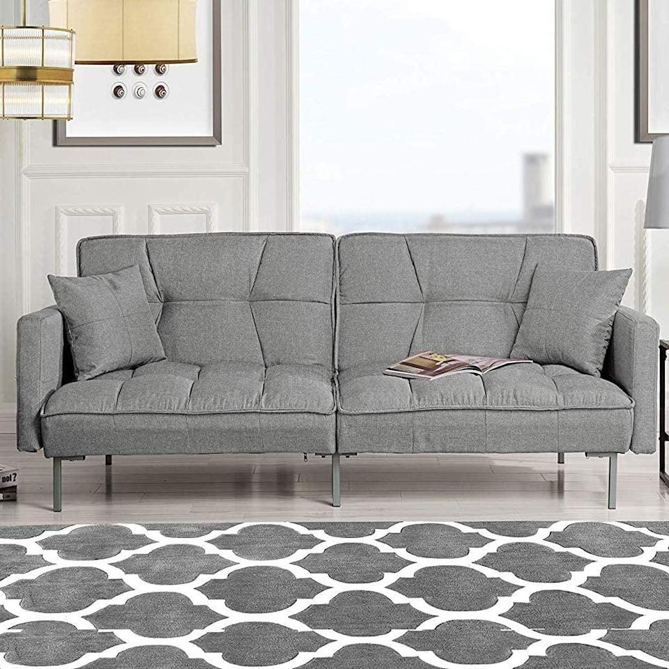<p>If you love modern furniture, get this <span>Divano Roma Furniture Sleeper Sofa </span> ($269). It comes in tons of fun colors.</p>