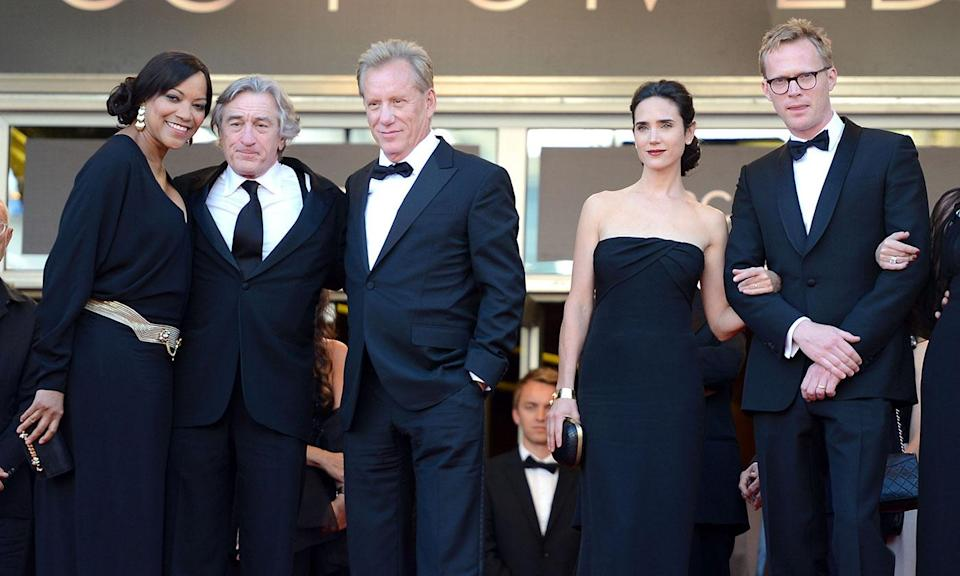 L-R: Grace Hightower, Robert De Niro, James Woods, Jennifer Connelly, and Paul Bettany attend the 'Once Upon A Time' Premiere during the 65th Annual Cannes Film Festival (Venturelli/WireImage)