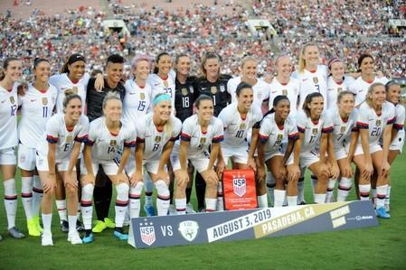 FILE PHOTO: Soccer: U.S. Women's National Team Victory Tour-Ireland at USA