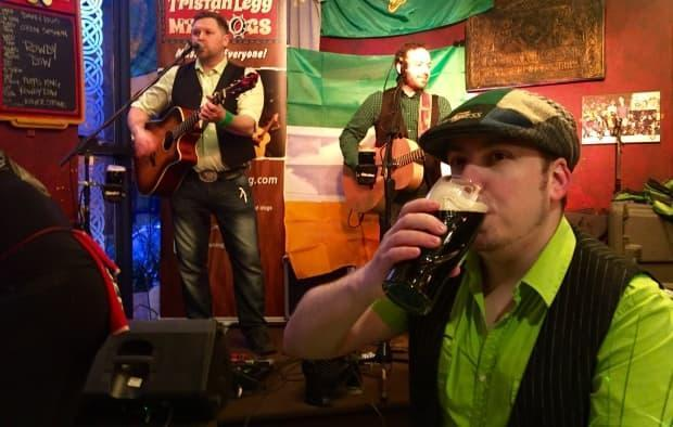 Live music was part of St. Patrick's Day festivities in 2016 at The Old Triangle Irish Alehouse.