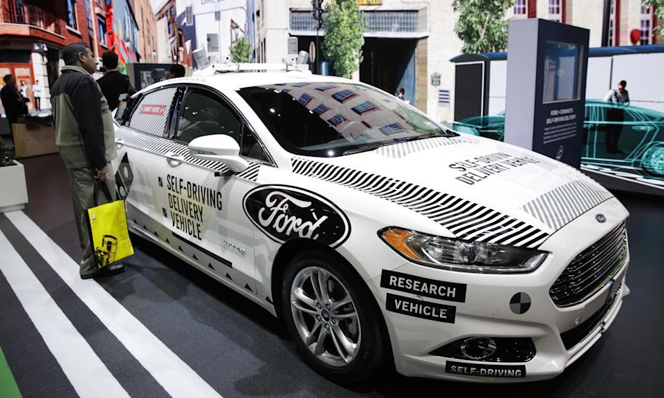 Ford exhibited a self-driving delivery vehicle at CES 2018 this week – a modified Fusion. [Guardian]