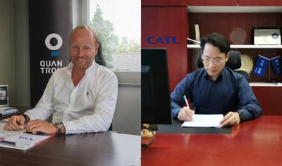 Quantron AG becomes importer of CATL in Europe. Quantron AG Director Andreas Haller - Akin Li CATL Director. (PRNewsfoto/Quantron AG)