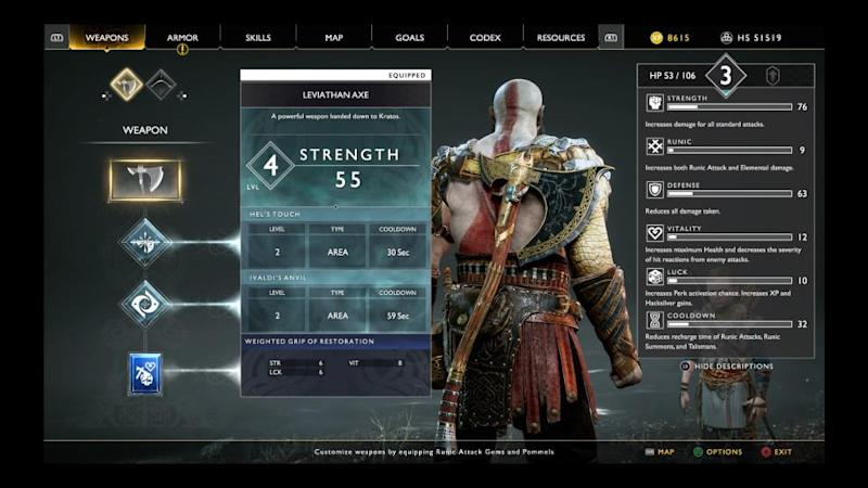 god of war what does luck do enchantments stat how to use upgrade kratos armor combat tips best