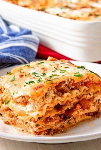 """<p>We took a couple of shortcuts for this recipe by using store-bought pasta sauce and boxed pasta sheets. It saves a ton of time without sacrificing any flavour. We think it's absolutely perfect as-is, but also understand some people are looking to make sauce from scratch. </p><p>Get the <a href=""""https://www.delish.com/uk/cooking/recipes/a28831487/classic-lasagne-recipe/"""" rel=""""nofollow noopener"""" target=""""_blank"""" data-ylk=""""slk:Classic Lasagne"""" class=""""link rapid-noclick-resp"""">Classic Lasagne</a> recipe.</p>"""