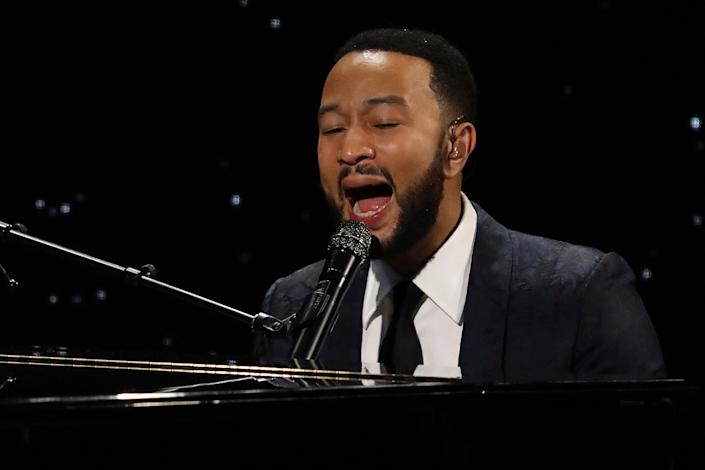 """John Legend followed suit, announcing he would take requests in a live stream from his official Instagram account on March 17 for a virtual concert. """"My friend Chris Martin did a lovely little concert from home today,"""" Legend said. """"See you soon. We'll try to get through this together!"""""""