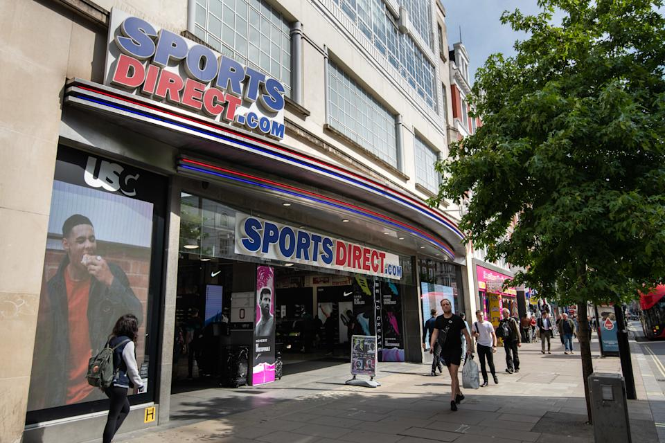 General view of a Sports Direct branch in Oxford Street, London. The chain is owned by Mike Ashley's Sports Direct group. Picture date: Wednesday August 21, 2019. Photo credit should read: Matt Crossick/Empics