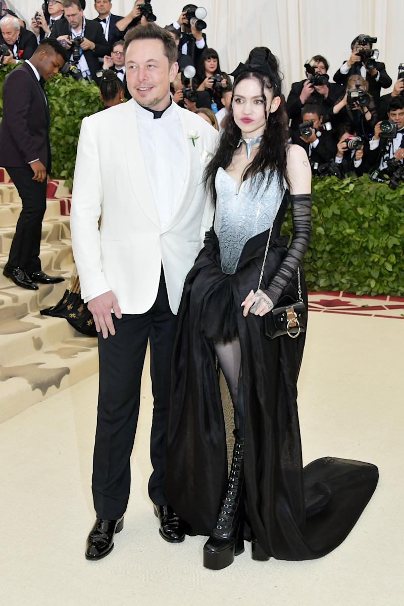 Elon Musk and Grimes and Grimes at the 2018 Met Gala in New York. (Photo: Neilson Barnard via Getty Images)
