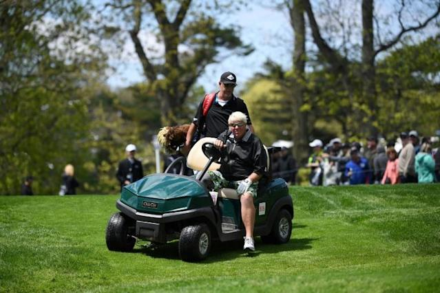 John Daly used a cart during the PGA Championship but his request to use one at the Open Championship was rejected by the R&A (AFP Photo/ROSS KINNAIRD)