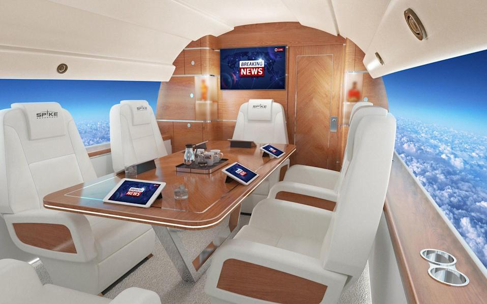What it will look like inside the cabin of the Spike S-512 supersonic jet