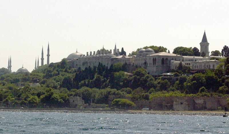 Hundreds of angry protesters marched towards the Topkapi Palace on the banks of the Bosphorus Strait in a show of solidarity with the Turkic Uigurs, who complain of cultural and religious suppression under Chinese rule