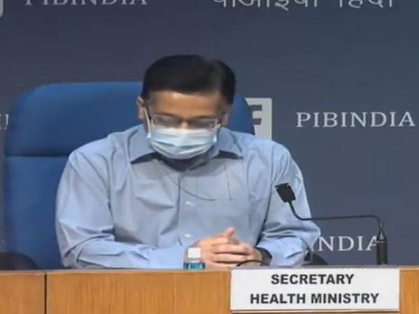 Rajesh Bhushan, Union Health Secretary speaking during press conference in New Delhi on Tuesday. (Photo/ANI)