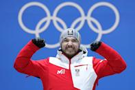 <p>Austrian luger David Gleirscher is another gold medalist at the PyeongChang Games. The 23-year-old is also the proud owner of well-kept admiral's pennant that must come in handy for keeping your cheeks warm when hurtling down an icy luge track. (Getty) </p>