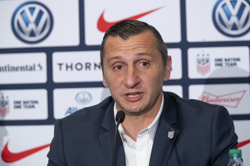 Vlatko Andonovski has officially been hired as the next coach of the USWNT. (AP)
