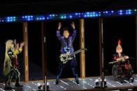 <p> Japanese musician Tomoyasu Hotei performs during the 2021 Paralympic Games opening ceremony. </p>