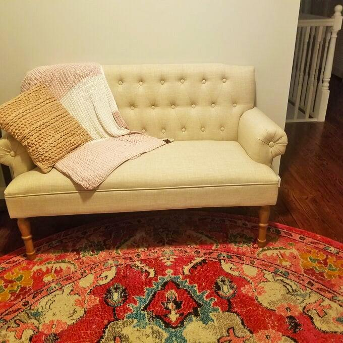 """<h2>Andover Mills Rolled Arm Settee</h2><br><strong>Flash Deal: 78% Off</strong><br>This top-rated, bestselling, and budget-saving love seat takes the small-space cake. Reviewers rave that its everything from stylish to well-made, easy to put together, and (yep, you guessed it) affordable AF. <br><br><strong>Andover Mills</strong> Bjorn 59"""" Rolled Arm Settee, $, available at <a href=""""https://go.skimresources.com/?id=30283X879131&url=https%3A%2F%2Fwww.wayfair.com%2Ffurniture%2Fpdp%2Fandover-mills-bjorn-59-rolled-arm-settee-w000619313.html"""" rel=""""nofollow noopener"""" target=""""_blank"""" data-ylk=""""slk:Wayfair"""" class=""""link rapid-noclick-resp"""">Wayfair</a>"""