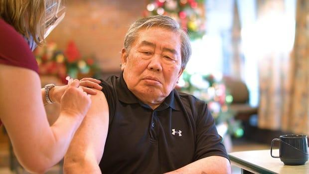 Andy Yoon, 77, of Abbotsford B.C., became the first long-term care resident in the Fraser Health region to receive the COVID-19 vaccination on Dec. 24, 2020.