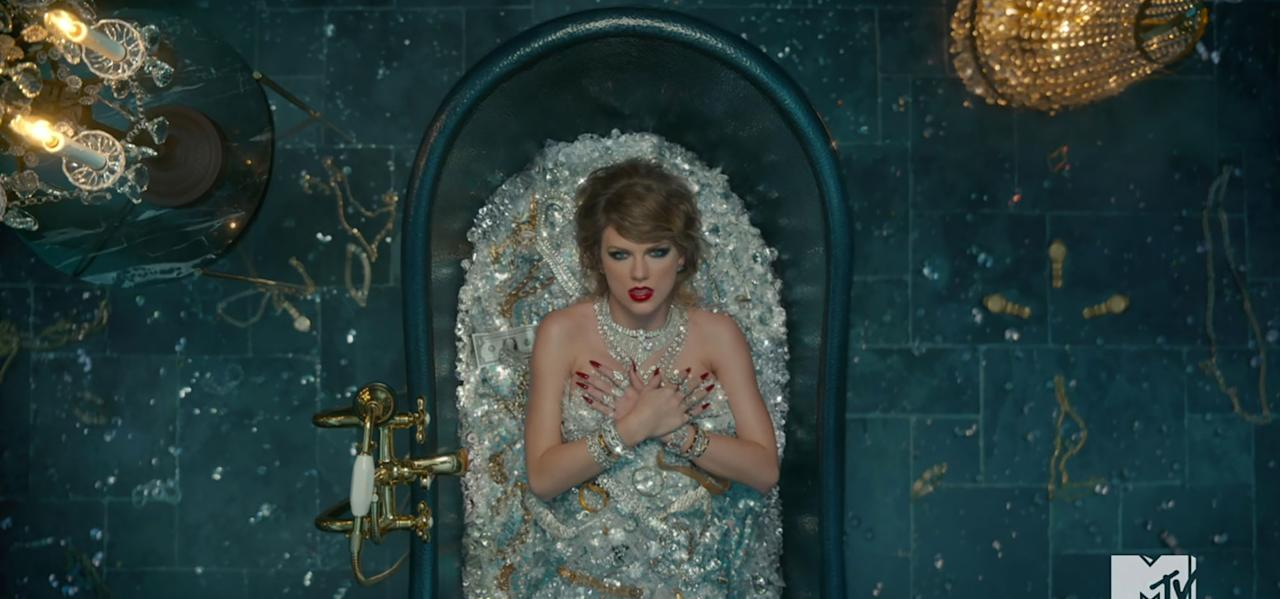 "<p>In one of the shots of Swift lying in a bathtub in the ""Look"" video, a $1 bill lies next to her shoulder, likely referencing her sexual assault lawsuit against David Mueller.  A jury found him guilty of assault and battery against Swift, who <a rel=""nofollow"" href=""http://people.com/music/taylor-swift-groping-trial-david-mueller-what-to-know/"">countersued Mueller</a> for $1 after he filed a lawsuit against her.</p>"